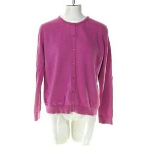 Cherokee Women's Large Pink Button Up Blouse Top